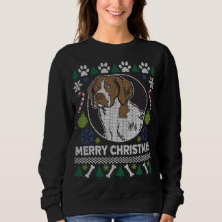 Moletom Camisola feia do Natal da raça do cão do Spaniel