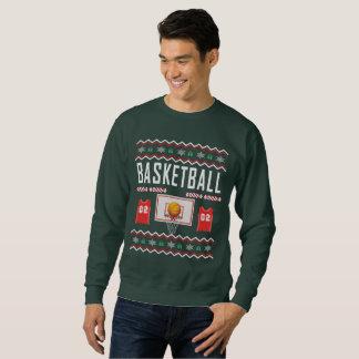 Moletom Camisola feia do Natal do basquetebol