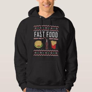 Moletom Camisola feia do Natal do fast food