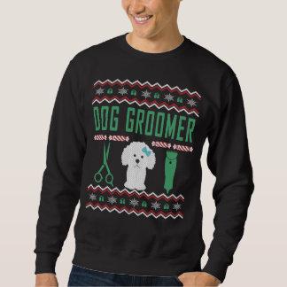 Moletom Camisola feia do Natal do Groomer do cão