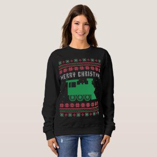 Moletom Camisola feia locomotiva do Natal do trem