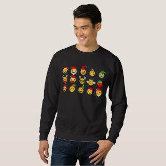 Moletom camisola feliz dos homens das caras do emoji do