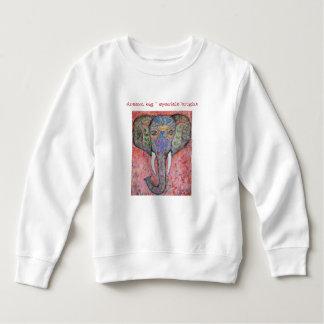 Moletom Camisola ideal da criança da arte do elefante da