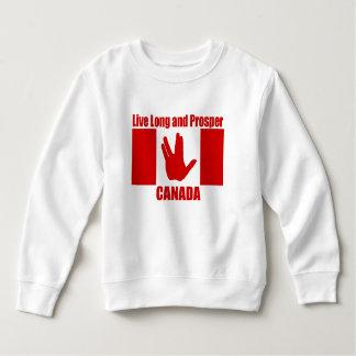 Moletom Camisola longa viva do velo da criança de Canadá