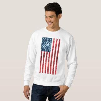Moletom camisola vertical dos homens da bandeira americana