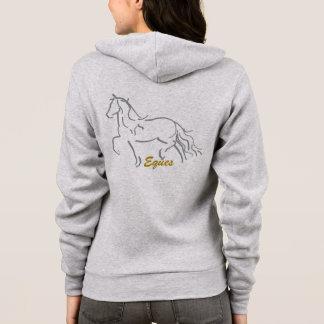 Moletom Camisola Zippered cavalo do frisão de Eques