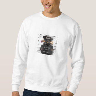 Moletom Cão do Mugshot, pug engraçado, pug