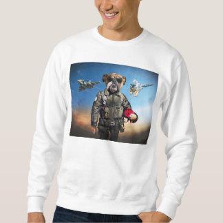 Moletom Cão piloto, buldogue engraçado, buldogue