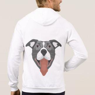Moletom Cão Pitbull de sorriso da ilustração
