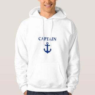 Moletom Capitão náutico Âncora Branco
