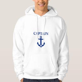 Moletom Capitão náutico Âncora Estrela Branco