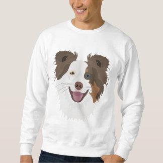 Moletom Cara feliz border collie dos cães da ilustração