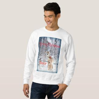 Moletom Caras engraçadas da camisola do feriado da neve