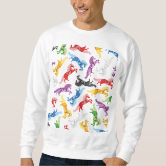 Moletom Cavalos de salto coloridos do teste padrão