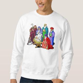 Moletom Cena colorida da natividade do Natal