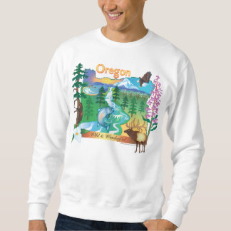 Moletom Cenário de Oregon e camisola dos animais selvagens