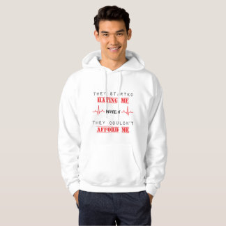 Moletom Citações da atitude na camisola encapuçado básica