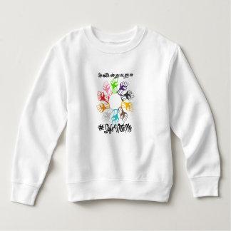 Moletom Cofre forte comigo camisola da criança dos punhos