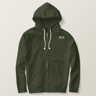 Moletom Com Capuz E Ziper Bordado hoodie do orgulho 26,2