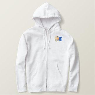 Moletom Com Capuz E Ziper Bordado WRCC: hoodie (bordado, logotipo somente)