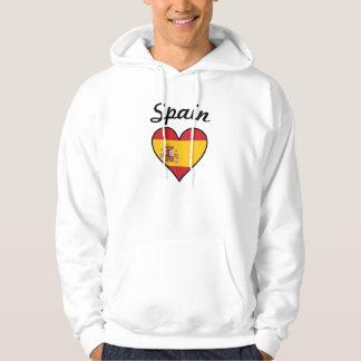 Moletom Coração da bandeira da espanha