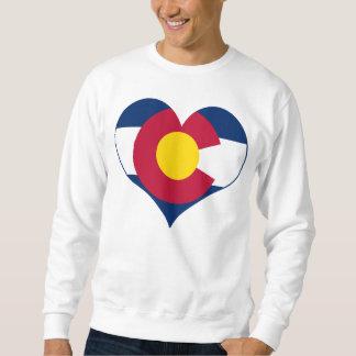 Moletom Coração da bandeira de Colorado