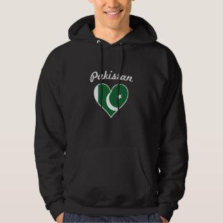 Moletom Coração da bandeira de Paquistão