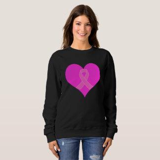 Moletom Coração e design da caridade do cancro da mama da