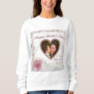 Moletom Coração feliz do dia das mães personalizado