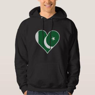 Moletom Coração paquistanês da bandeira