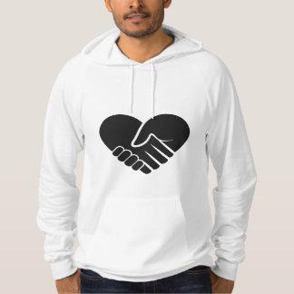 Moletom Coração preto conectado amor