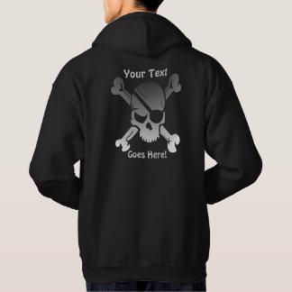 Moletom Crânio Funky do pirata com texto feito sob