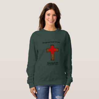 Moletom Cruz vermelha original (camisola das senhoras)