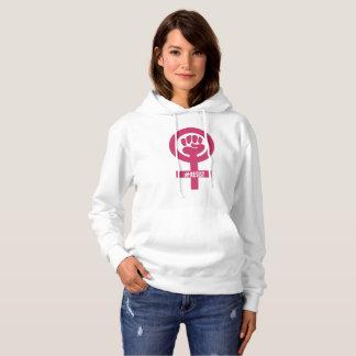 Moletom Da mulher cor-de-rosa do punho do #RESIST o Hoodie