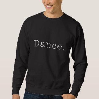 Moletom Dança. Modelo preto e branco das citações da dança