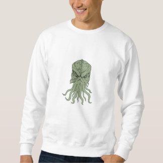 Moletom Desenho subterrâneo da cabeça do monstro de mar