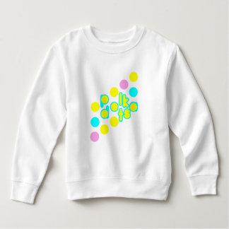 Moletom Design branco do ponto da camisola w/Polka do velo