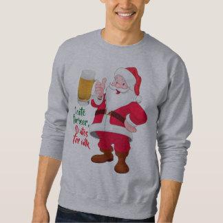 Moletom design da camisola dos homens do Natal do papai