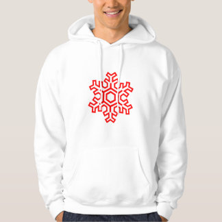 Moletom Design simples do Hoodie do floco de neve do Natal