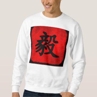 Moletom Determinação na caligrafia do chinês tradicional
