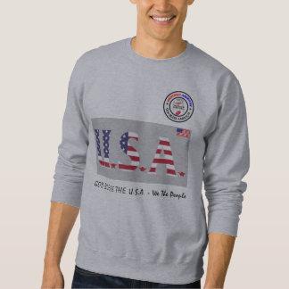 Moletom Deus abençoe os EUA - nós as pessoas da camisola