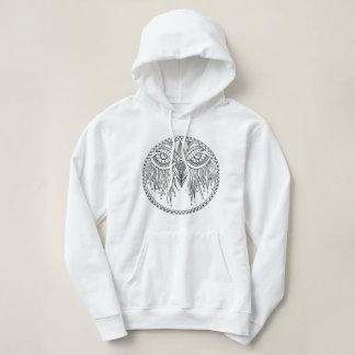 Moletom Doodle da coruja do zen, hoodie original do design