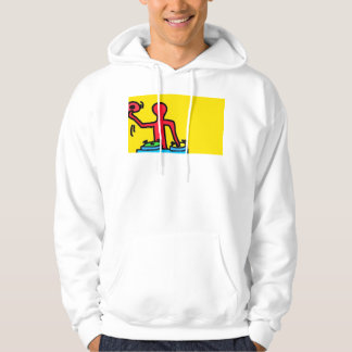Moletom DreamySupply vai Hoodie do branco do pop art do DJ