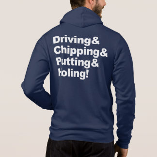 Moletom Driving&Chipping&Putting&Holing (branco)