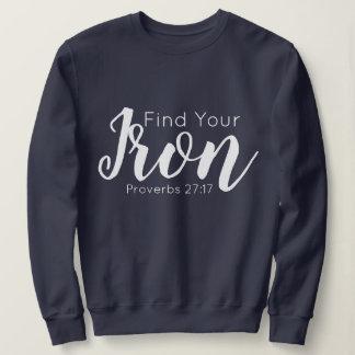"""Moletom """"Encontre camisola inspirada do seu ferro"""""""