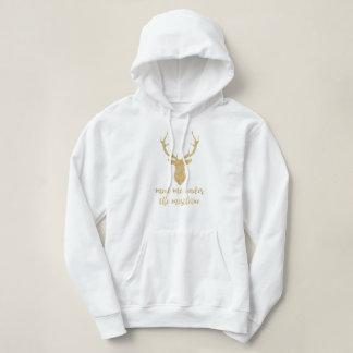 Moletom Encontre-me sob o visco - cervo do Natal do ouro