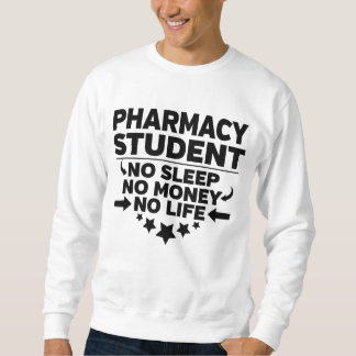 Moletom Estudante universitário da farmácia nenhum vida ou