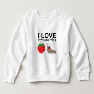 Moletom Eu amo a ilustração das morangos