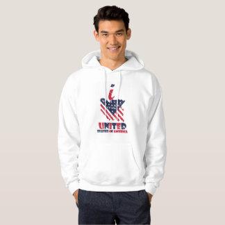 Moletom Eu amo Estados Unidos da América