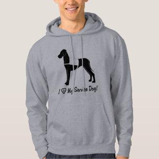 Moletom Eu amo meu cão do serviço de great dane!